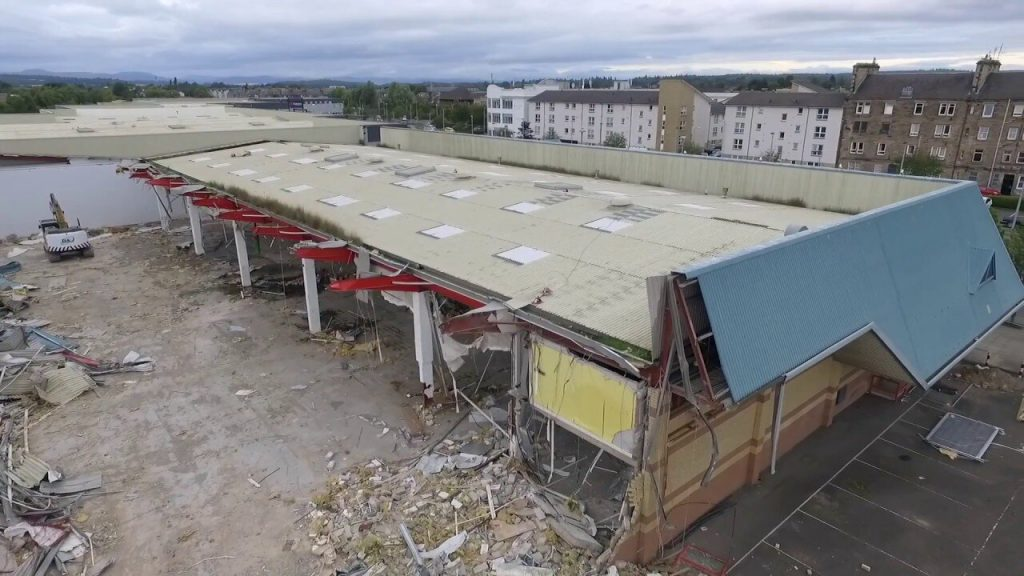 Demolition of B and Q